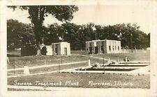 A View of the Sewage Treatment Plant, Morrison IL RPPC 1949