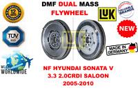 FOR NF HYUNDAI SONATA V 3.3 2.0CRDI BERLINA 2005-2010 NEW DUAL MASS DMF FLYWHEEL