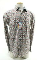 Robert Graham Adonis NWT $198 Men's Dress Shirt Flip Cuff Sz Medium Polka White