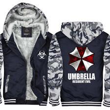 Resident Evil Umbrella Hoodie Winter Fleece Coat Warm Jacket Full-Zip Sweatshirt