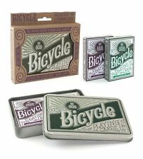 Bicycle Retro Tin Autocycle Playing Cards 2 Decks - Purple & Green - USPCC