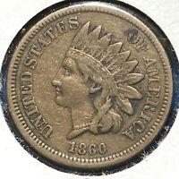 1860 1C Indian Cent (59824)
