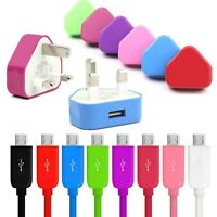 CE Mains Charger Plug & Micro USB Sync Cable For Samsung S6 Edge+ S7 S6 A5 A3 J3