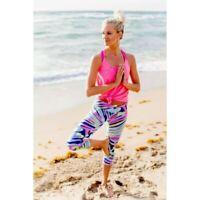 Lilly Pulitzer Luxletic UPF50+ Sea Dreamin Mid Rise Crop Multicolor Legging