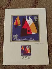 London 2012 Paralympic Royal Mail Stamp Postcard Artwork SAILING Limited Edition