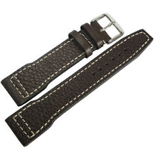20mm RIOS Typhoon Mocha Brown Genuine Buffalo Leather German Watch Band Strap