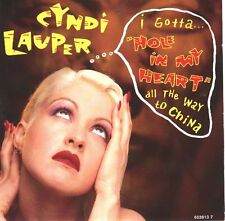 "CYNDI LAUPER Hole In My Heart  PICTURE SLEEVE 7"" 45 record NEW + juke box strip"