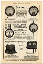 1920 Weston Electrical Indication Instruments - Ammeter, Voltmeter - Newark, NJ
