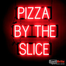 SpellBrite Ultra-Bright PIZZA BY THE SLICE Sign Neon-LED Sign (Neon look)