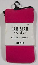 PARISIAN KIDS BRIGHT PINK TIGHTS NIP GIRLS SZ 4 5 6 COTTON SPANDEX 4-6 BRAND NEW