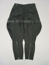 Schwarze Stiefelhose, Breecheshose, schwarzer feiner Stoff, Trikotstoff, RZM