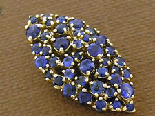 P058 Genuine 9K 9ct Solid Yellow Gold NATURAL Sapphire Pave set Slider Pendant