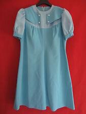 Robe été Bleu à pois Vintage Femme Années 70 Pop TBE - 44