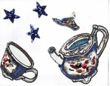 Sequin Patch: English Afternoon Tea Set (Set of Six)