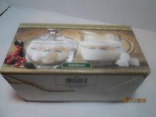 Home Trends Anchor Hocking Seasons Greetings Sugar Creamer Victorian Santa