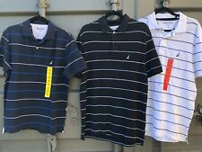 Mens Nautica Polo T-shirt, Deck Shirt, Navy, Black or White with Logo