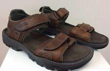 Men's Rockport Sandals Brown Genuine Leather Size 11