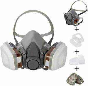 6200 Half Face Gas Mask Cover Painting Spraying Respirator Work Filter Facepiece