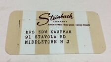 Steinbach Department Store 1970's Vintage Collectors Credit Card #2