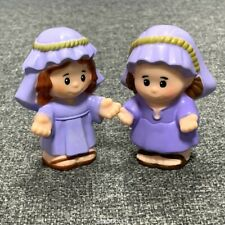 2 Fisher Price Little People rare Nativity Joseph Manger Figure Christmas toys