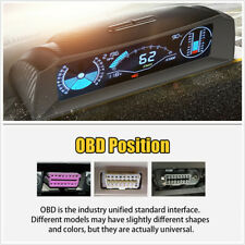 Car Board Computer Head Up Display Hud ODB2 Speedometer Compass Car Electronic