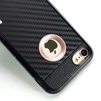CARBON Handyhülle für Apple iPhone 7 PLUS Tasche Hülle - Schwarz (P2GO)