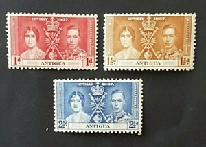 Omnibus - Antigua - 1937 - Sc 81 - 83 - KGVI Coronation Issue MH