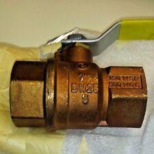 "Jomar Valve T-100NE Brass Full Port Ball Valve, 1"" Gas Shut Off valve #100-705"