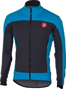 Castelli Mortirolo 4 Men's Windstopper Cycling Jacket - Blue - Large : SAVE BIG