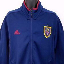 Real Salt Lake Adidas Mens Track Jacket RSL MLS Soccer Full Zip Blue Size XL