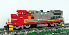 Custom Lego Santa Fe BNSF B40-8W Train Engine Locomotive