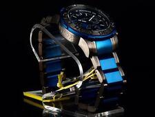 NEW! Invicta Reserve Men's OS Swiss Made Chronograph Gunmetal/Blue IP SS Watch