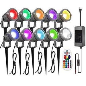 ZUCKEO Landscape Lights 6W RGB Remote Control LED Landscape Lighting with 12V 16