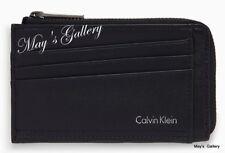 CALVIN KLEIN ID Credits Credit holder case cover card zip Commuter wallet CK