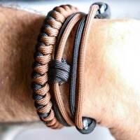 EDC Self Defense Bracelet Everyday Carry Survival Weapon Self Defense Tool BROWN
