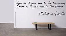 Vinyl Wall Decal Sticker Room Decor Saings Quotes Inspiring Mahatma Gandhi F1988