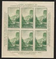 1934 Trans-Mississippi Sc 751 Souveir Sheet MNH Scott CV $15
