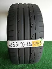 Bridgestone Potenza S001 RFT used tire 255 40 18 95Y 55% LIFE LEFT # 499