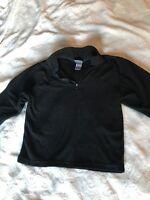 EUC CHAMPION Boys Size XS XSmall BLACK Thin Fleece Collared LONG SLEEVE Sweater