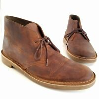 Clarks Chukka Desert Boot Brown Beeswax Leather Lace Up Shoes Mens Shoes Size 14