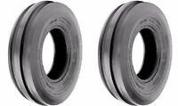 TWO (2) 4.00-15 4.00X15 400-15 Tri-Rib 3 Rib 4 PR Tires Heavy Duty
