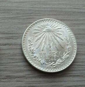 UN PESO 1944 MEXICO ,SILBER
