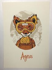 Agnes Handbill Tyler Stout Fantastic Mr. Fox Screenprint Poster Art Mondo