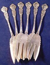"""Set 6 Paye & Baker Sterling Silver """"Daphne"""" Art Nouveau Lady Dessert/Salad Forks"""