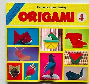 Origami book n.4 Paper folding Atsuko Nakata with 15 papers Printed in Japan