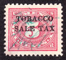 Scott Rj3 Tobacco 5c Sales Tax Revenue 1934 Vf Used H1160A