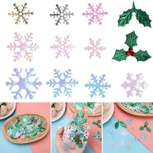 Accessory Tinfoil Sequins Xmas Snowflake Christmas Confetti Festival Ornament