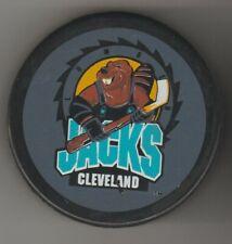 Cleveland LumberJacks Bibbed Beaver Ufer Ihl Hockey Puck World Bucky Jacks