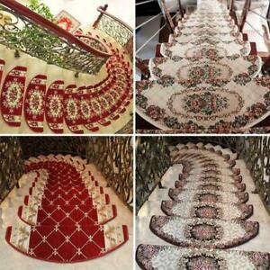 1 PC  European Floral Stair Tread Mats Non-slip Stair Carpet Step Rugs NEW