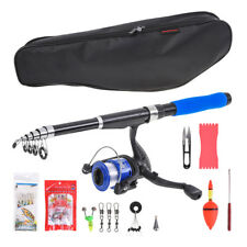Spinning Fishing Reel Combos Tackle Set Carp Kits with Fishing Rod Bag and Line
